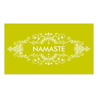 Namaste Double-Sided Standard Business Cards (Pack Of 100)