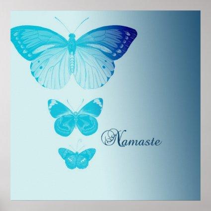 Namaste Butterflies Print