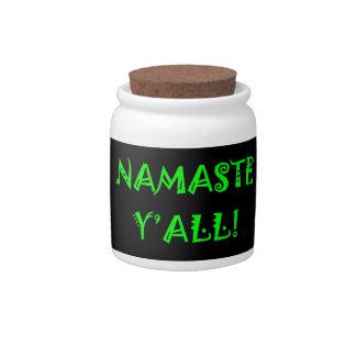 Namaste Candy Jar - Unique Yoga Gifts