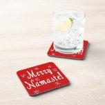 Namaste Christmas Drink Coasters