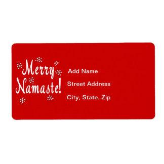 Namaste Christmas Label