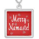 Namaste Christmas necklace