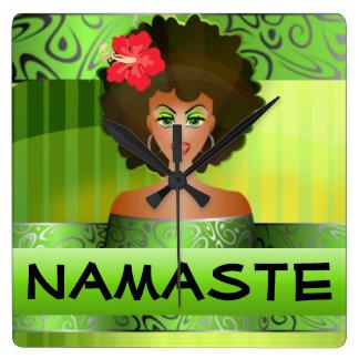 Namaste clock