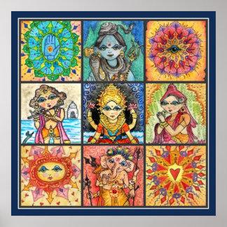 Namaste Collage Print