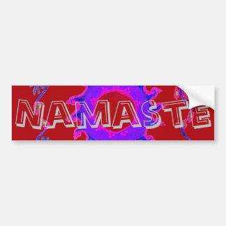 Namaste Colorful Template Car Bumper Sticker