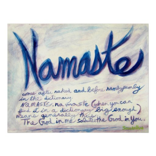 Namaste comes after naked and before nambypamby poster