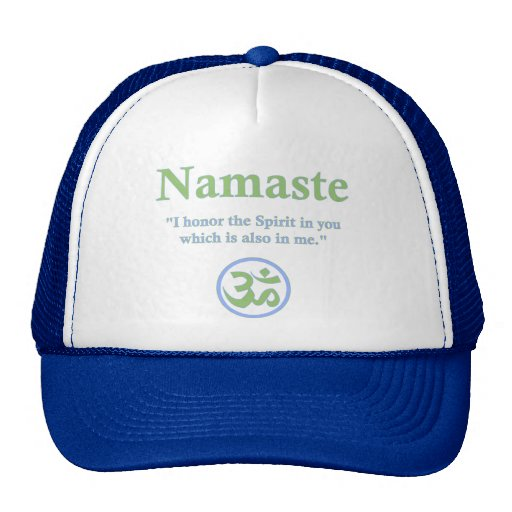 Namaste - con cita y símbolo de OM Gorras De Camionero