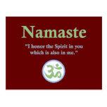 Namaste - con cita y símbolo de OM Postales