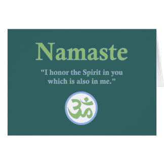 Namaste - con cita y símbolo de OM Tarjeta De Felicitación
