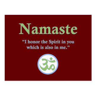 Namaste - con cita y símbolo de OM Tarjetas Postales