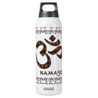 Namaste con el símbolo Brown de OM y la crema