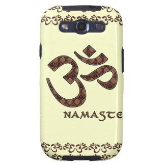 Namaste con el símbolo Brown de OM y la crema Samsung Galaxy SIII Funda