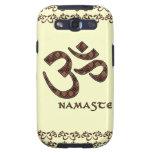 Namaste con el símbolo Brown de OM y la crema Galaxy S3 Protectores