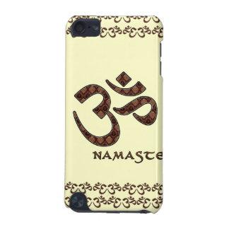 Namaste con el símbolo Brown de OM y la crema Funda Para iPod Touch 5G