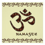 Namaste con el símbolo Brown de OM y la crema Impresiones