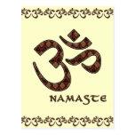 Namaste con el símbolo Brown de OM y la crema Postal