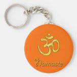Namaste con llaveros del símbolo de OM