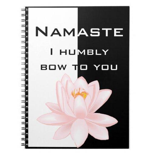 Namaste con símbolo de OM Spiral Notebooks