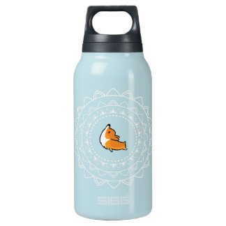 Namaste Corgi Blue Emblem Hot + Cold Water Bottle