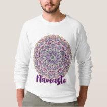 Namaste Cute pink and purple floral mandala Sweatshirt