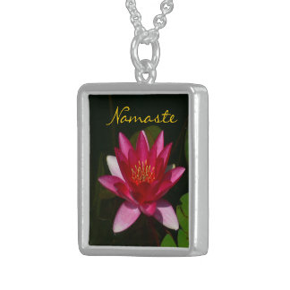 """NAMASTE-DEEP ROSE PINK LOTUS BLOSSOM"" (PHOTOG) CUSTOM NECKLACE"