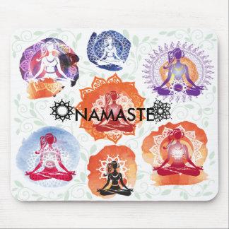 Namaste del mousepad de la yoga alfombrilla de ratón
