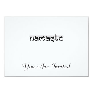 Namaste Design on Sanskrit Style Card