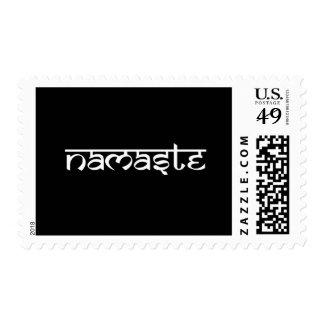 Namaste Design on Sanskrit Style Postage Stamp