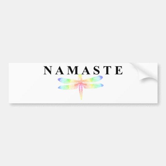 Namaste Dragonfly Bumper Sticker