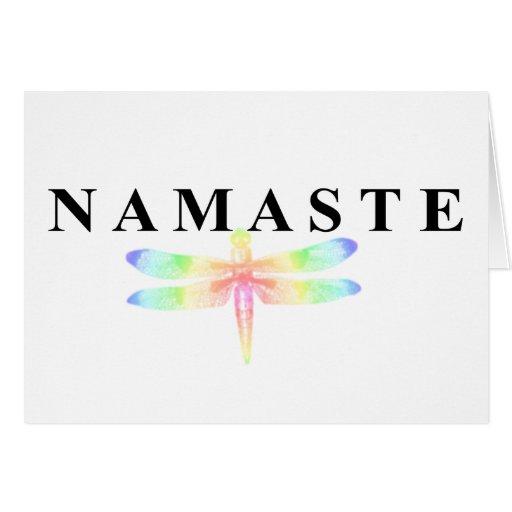Namaste Dragonfly Greeting Card