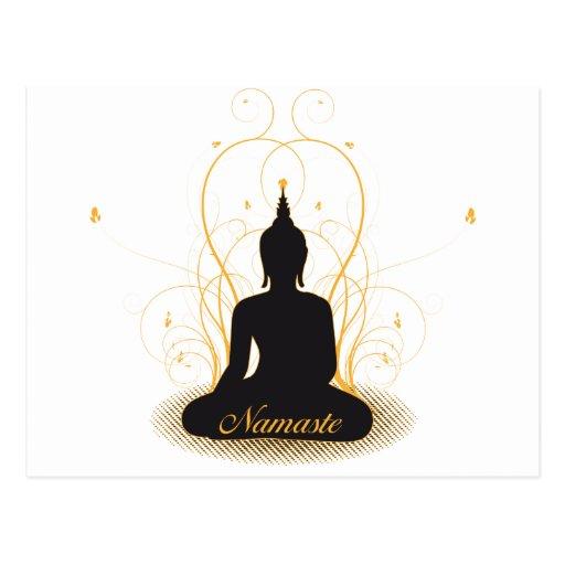 Namaste elegante Buda Tarjetas Postales