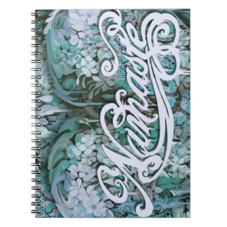 Namaste en azul spiral notebook