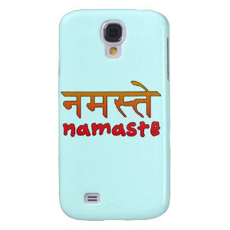 Namaste en escritura inglesa y del Hindi