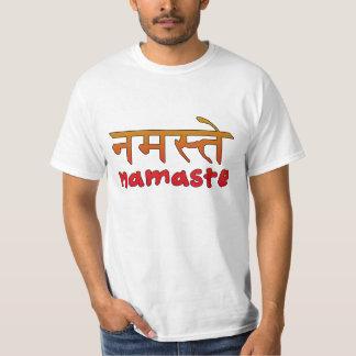Namaste en escritura inglesa y del Hindi Polera