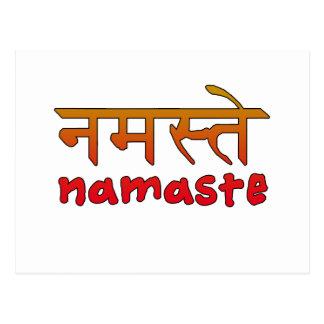 Namaste en escritura inglesa y del Hindi Postal