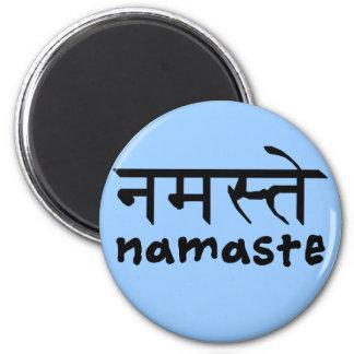 Namaste en inglés e Hindi Iman Para Frigorífico