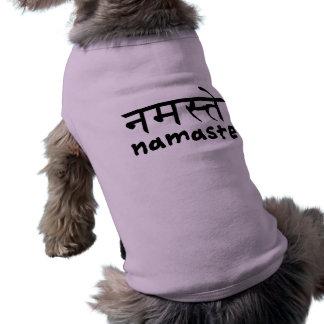Namaste en inglés e Hindi Playera Sin Mangas Para Perro