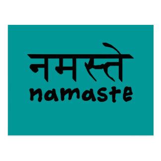 Namaste en inglés e Hindi Tarjetas Postales