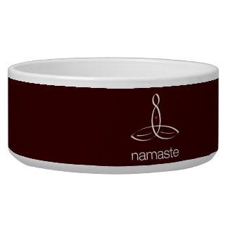 Namaste - estilo regular blanco tazones para perro