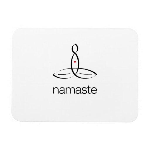 Namaste - estilo regular negro imanes flexibles