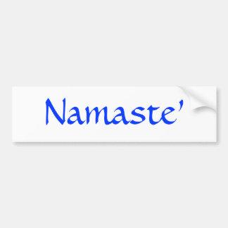 Namaste Etiqueta De Parachoque