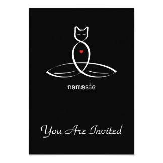 Namaste - Fancy style text. Card