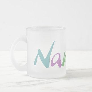 Namaste Frosted Glass Coffee Mug