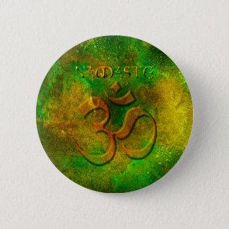 Namaste Green Gold Button