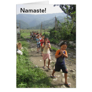 Namaste! Greeting Card