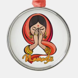 Namaste hindú adorno