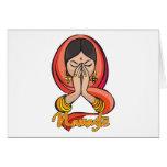 Namaste hindú felicitación