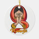 Namaste hindú ornaments para arbol de navidad