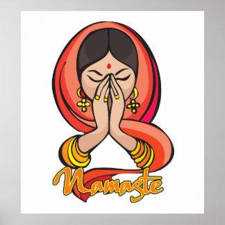 Namaste hindú póster