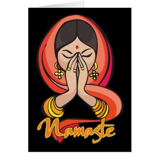 Namaste hindú tarjeta de felicitación